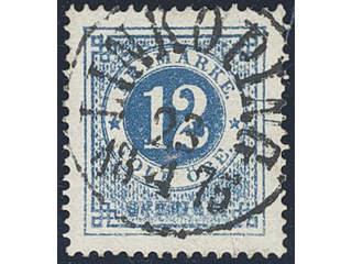 Sweden. Facit 21o used , 12 öre ultramarinish deep blue, distinct print. EXCELLENT …
