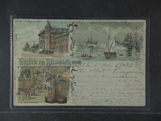 "Denmark. Postcard Facit 57 , Gruss Aus. Helsingør, ""Hilsen fra"", used card sent from …"