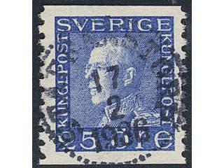 Sweden. Facit 183b used , 25 öre ultramarine-blue on white paper. EXCELLENT cancellation …