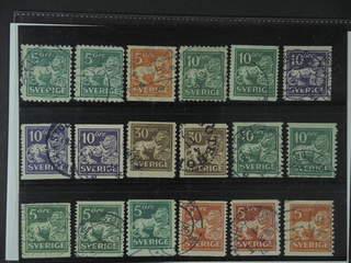 Sweden. Used 1920-34. St.Lion. All different, e.g. F 140C+Ccx, 141bz, 144Ccx+Ecx, …