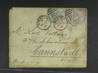 Britain. Michel 55, 65 cover , ½+2x1 p on cover sent from CHESTER 27.NO.81 to Germany. …