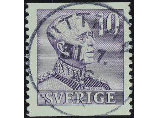 Sweden. Facit 273A used , 1939 Gustaf V large numerals 10 öre violet. EXCELLENT …