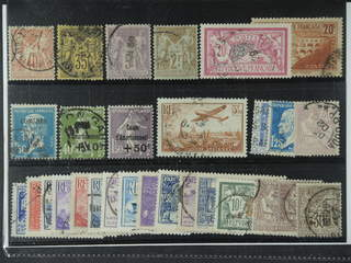 France. Used 1876-1937. All different, e.g. Mi 65 I, 75-76, 85, 183, 242, 250, 254, 264, …