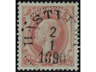 Sweden. Facit 45 used , 1886 Oscar II with posthorn on back 10 öre red. EXCELLENT …
