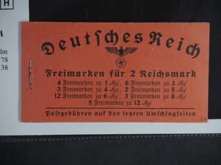 Germany Reich. Booklet Michel MH39.4 ★★ , 1941 Hindenburg III 2 Reichmark No. 14. EUR200