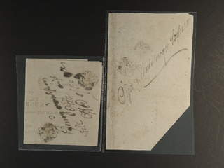 Sweden. Crown post. Two notifications from 1824, sent to Öja, Malmöhus, med somewhat …