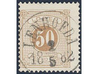 Sweden. Postage due Facit L19a used , 50 öre orange-brown, perf 13. EXCELLENT …