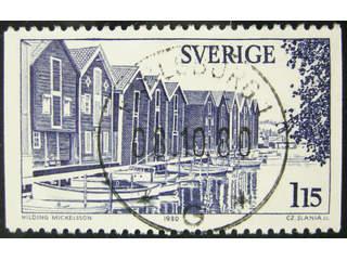 Sweden. Facit 1129 used , 1980 Hälsingland 1.15 Kr blue. EXCELLENT cancellation …