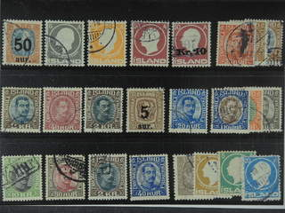 Iceland. Used 1902-22. All different, e.g. F 102, 111, 113, 117, 122v, 137, 143, 154, …
