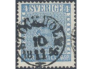 Sweden. Facit 2 used , 4 skill blå. Stpl STOCKHOLM 10.11.56. SEK950