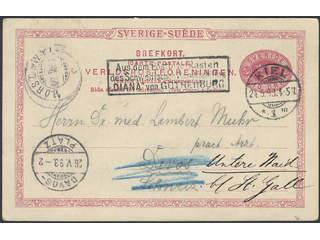Sweden. Postal stationery, single postcard Facit bKe13 , Postcard 10 öre sent by …