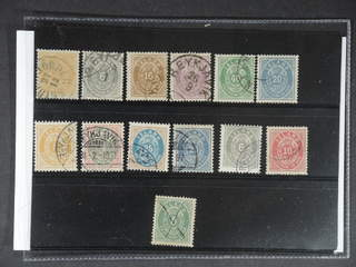 Iceland. Used 1876–1901. All different, e.g. F 8, 11, 13, 15, 16 (short perf), 17, …