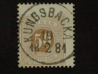 Sweden. Postage due Facit L19 used , 50 öre brun, tandn. 13, kartongpapper, och del av …