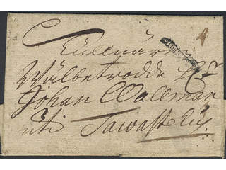 """Sweden. A county. STOCKHOLM, ribbon postmark. Type 1 on beautiful letter dated """"12 apr: …"""