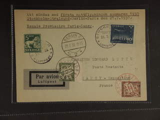 Sweden. Air mail cover Facit 143A, 231 , 5+10 öre on air mail printed matter sent from …