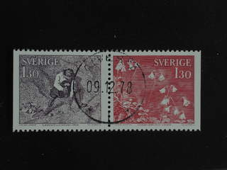 Sweden. Facit 1042SX used , 1978 Travels of Linné 1.30 Kr red-brown and red in pair. …