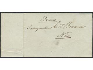 "Sweden. Military prephilately. ""Ordres"" dated ""8de October 1839"" sent to Nås."