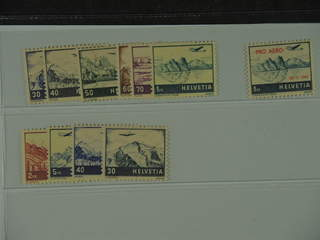 Switzerland. Michel 387–95, 506–07 ★★ , 1941 Air mail issue incl overprint, and …