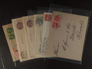 Sweden. Collection cancellations I, K-LÄN. Postal items 1880–1920-tal, incl. BJERGES on …