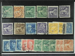 Sweden. Used 1920-36. Small coil stamps, All different, e.g. F 140Ccx, 141bz, …