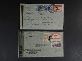 Argentina. Michel 458, etc. cover , Two censored air mail covers sent to Sweden. One …