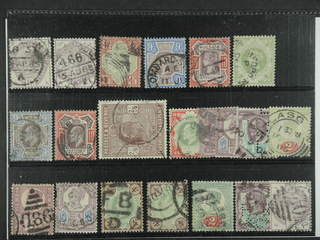 Britain. Used 1883-1902. All different, e.g. Mi 73, 76, 92, 95-97, 112-13, 115. Mostly …