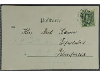 Sweden. Facit 52, E county. SLÄTMON 1.5.1904. Postcard sent to Rimforsa. Superb. …