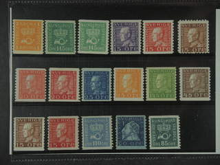 Sweden. ★★ 1920-36. Small coilstamps. All different, e.g. F 168b, 174a+c, 175A, 177Ac, …