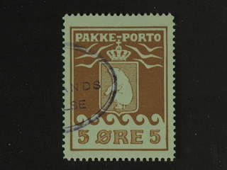 Denmark Greenland. Facit P6 III used , 5 øre red-brown. Part of oval cancellation. …