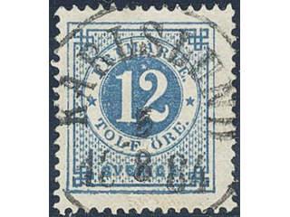 Sweden. Facit 32 used , 12 öre blue. EXCELLENT cancellation KARLSLUND 5.8.1884.