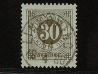 Sweden. Facit 35 used , 30 öre brun. LYX-stämplat LINKÖPING 14.4.1886.