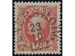 Sweden. Facit 54 used , 1891 Oscar II 10 öre red. EXCELLENT cancellation VENERBORG …