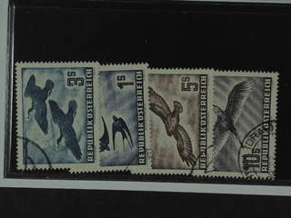Austria. Michel 984–87 used , 1953 Birds SET (4). EUR300