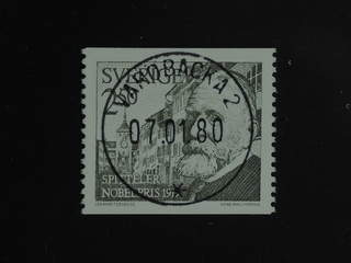 Sweden. Facit 1112 used , 1979 Nobel prize 1919 2.50 Kr olive-green. EXCELLENT …
