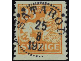 Sweden. Facit 147 used , 25 öre orange. EXCELLENT cancellation SÄTARÖD 25.8.192x.