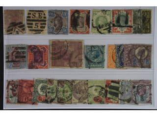 Britain. Used 1873-1902. All different, e.g. Mi 40, 47, 95-97, 101, 112-13, 115, 139. …