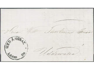 Sweden. O county. Postage due mail. Udevalla postage due cancellation MED ÅNGBÅT. LÖSEN …