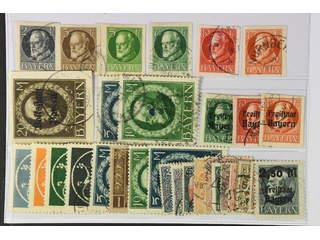 Germany Bavaria. Used 1867–1920. All different, e.g. Mi 107-08II, 110B, 112-15 B, …