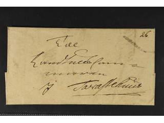 "Sweden. A county. STOCKHOLM, ribbon postmark. Type 2 on letter dated ""14 Novemb: 1740"" …"