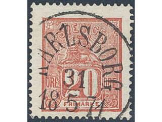 Sweden. Facit 16 used , 20 öre red. EXCELLENT cancellation KARLSBORG 31.5.1871. Position …