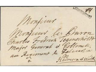 "Sweden. A county. STOCKHOLM, ribbon postmark. Type 9 on letter (slightly worn) dated ""12 …"