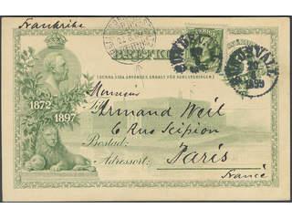 Sweden. Facit 52, bKe9, M county. TRELLEBORG-SASSNITZ C 22.6.1899. Scarce littera. …