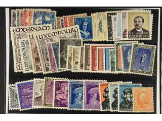 Luxembourg. ★ 1891–1953. All different, e.g. Mi252–56, 259–64, 312–14, 336–38, 422, …
