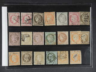 France. Used 1853–1872. All different, e.g. Mi 16, 31, 42-43 (cut in picture), 47. …