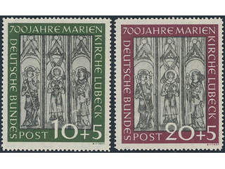 Germany GFR (BRD). Lot ★★. 16 stamps in sets incl better such as Church of St Mary, and …