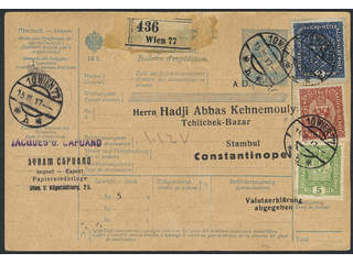 Austria. Michel 200 I, 186, 197 cover , 5+80 h + 2 Kr as additional postage on postal …