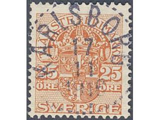 Sweden. Official Facit Tj35 used , 25 öre orange, watermark crown. EXCELLENT …