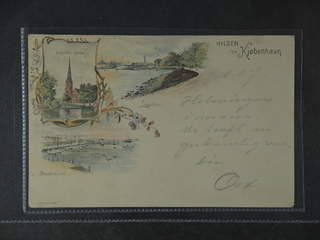 "Denmark. PostcardGruss Aus. Copenhagen, ""Hilsen fra"", used card sent to Finland, with …"