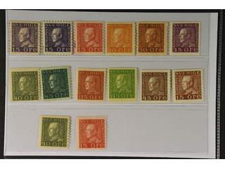 Sweden. ★★ 1920–36. GV Coil. All different, e.g. F 175A+C, 176A, 181a, 186a, 187c, …