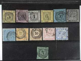 Germany Baden. Used 1851–1862. All different, e.g. Mi 2, 4-5, 7-11, 15, 19. Mostly good …